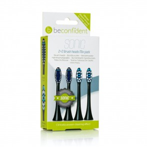 651098 Sonic Toothbrush heads Mixpack RegularWhitening Black