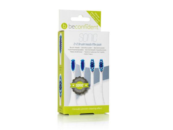 Beconfident® 22 Mix brushpackwhite 651198