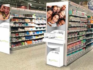 Butikstall med produkter