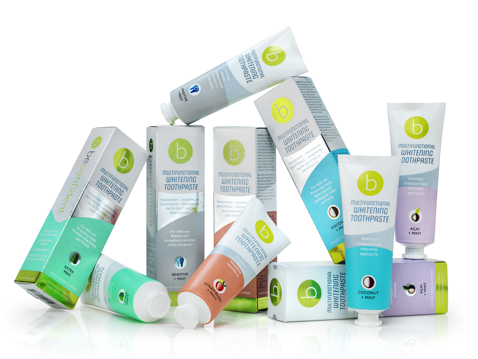 Beconfident® Multipack of Whitening Toothpastes